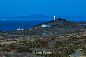 Twilight over Anacapa Island Lighthouse in Channel Islands