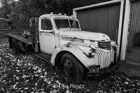 Old Chevrolet Flatbed Truck Parked in Mitchell, Oregon