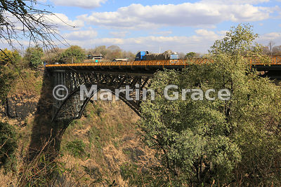 Victoria Falls Bridge over River Zambezi immediately south of Victoria Falls