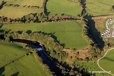 aerial photograph of Castlesteads Iron Age  Hillfort in Bury