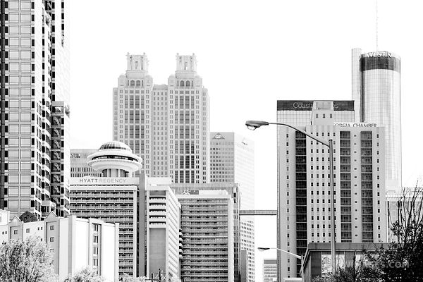 DOWNTOWN ATLANTA GEORGIA BLACK AND WHITE