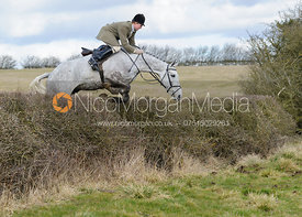 Will Grant jumping the boundary hedge from Flitteris Park