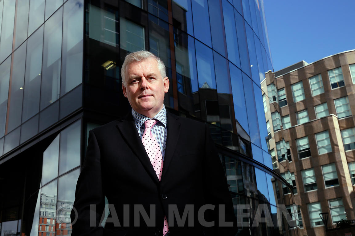 Richard McIndoe, Head of Pensions, Strathclyde Pension Fund..Pictured at his office in Glasgow..18.9.15.Sole Use For Modern Investor Magazine..All Rights Reserved.No Syndication..Picture Copyright:.Iain McLean,.79 Earlspark Avenue,.Glasgow.G43 2HE.07901 604 365.photomclean@googlemail.com.www.iainmclean.com