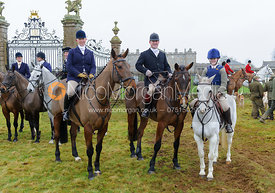 at the meet - The Cottesmore Hunt at Burley 21/1