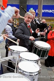 Iain Gray campaigning in the Scottish Election