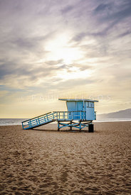 Zuma Beach Lifeguard Tower #2 Malibu Sunset