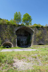 Remains of the historic Cyfarthfa Iron Works, Merthyr Tydfil, South Wales, UK.