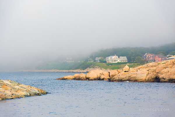 FOG ROCKPORT FISHING VILLAGE CAPE ANN MASSACHUSETTS