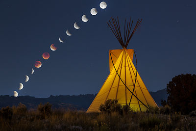 Tipi and Lunar Eclipse