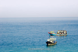 fishing boats at Pulau tioman