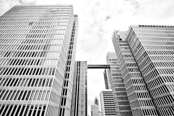 DOWNTOWN ATLANTA BLACK AND WHITE