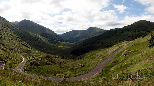 Glen Croe from 'Rest and Be Thankful' pass