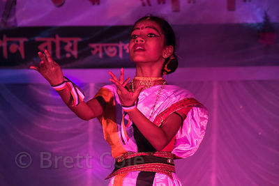 A girl dances in a performance to mark India Independence Day 2013, Kashi Dutta, Kolkata, India