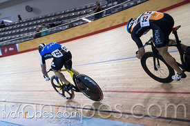 Men Sprint 1/2 Final. Canadian Track Championships, Mattamy National Cycling Centre, Milton, On, September 25, 2016