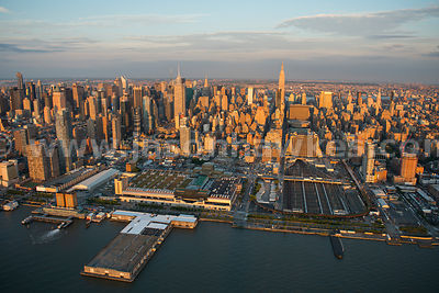 Aerial view of Hudson Yards, a redevelopment project in Midtown Manhattan