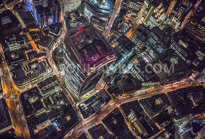 London at Night aerial londons