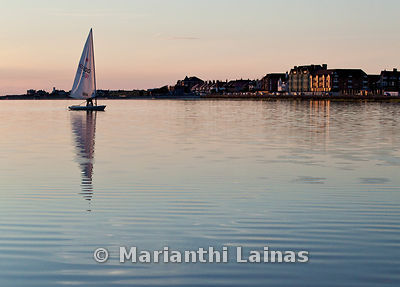 Sailing boat at West Kirby