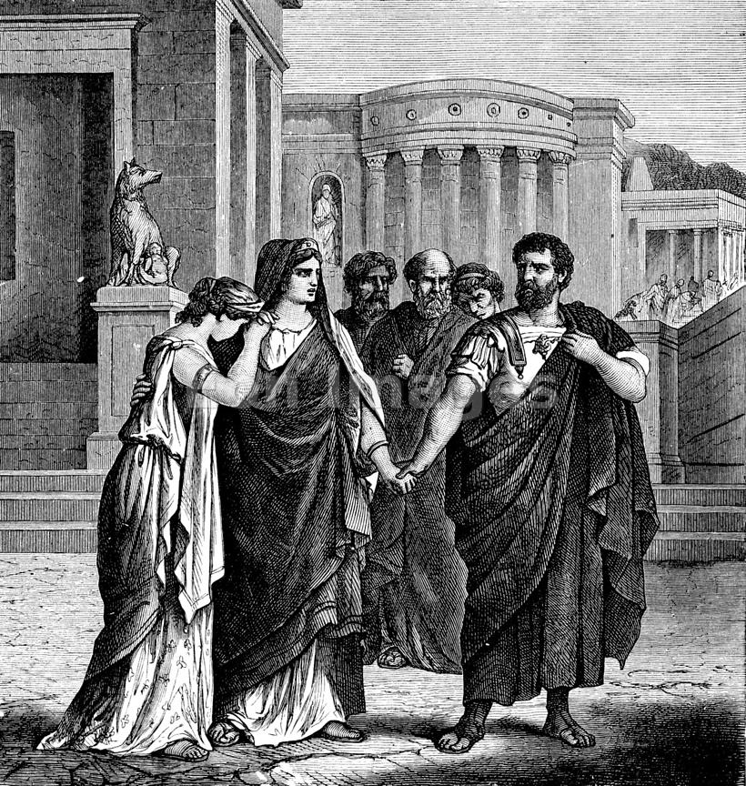 Marcus Atilius Regulus departs from Rome during Punic Wars
