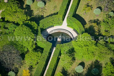 Aerial view of gardens at Buscot Park