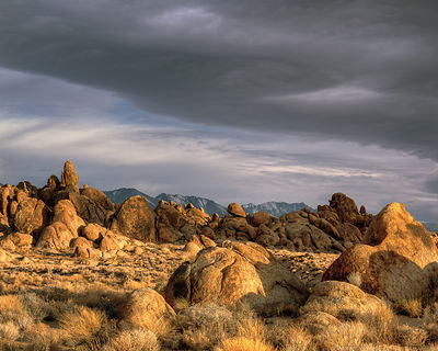 Alabama Hills and Sierra Wave