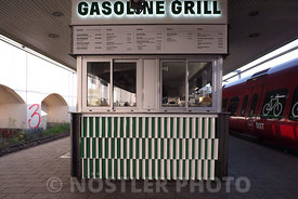 Get a burger on the platform