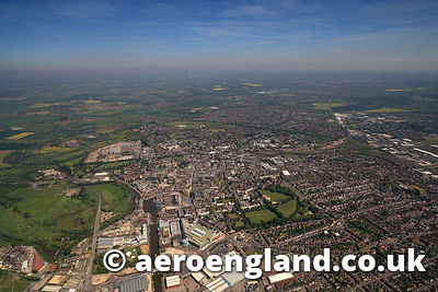 aerial photograph of Gloucester Gloucestershire  England UK