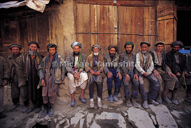Day laborers waiting to be offered work. The City of Salt: Feyzabad, Afghanistan.