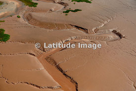 Channels Caused By Tidal Wave Retreating, Minas Basin