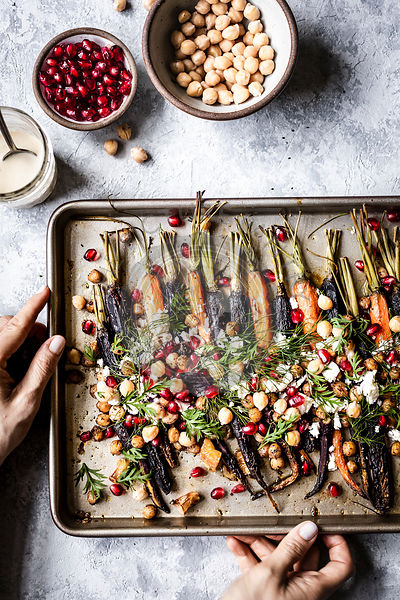 Roasted Carrots on a baking tray