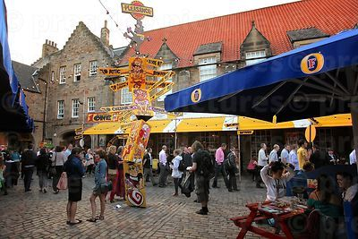 The Pleasance Courtyard during the Edinburgh Fringe Festival