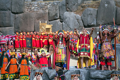 Inti Raymi (2008), the Inca Sun Festival held each year in Cusco, Peru. The festival has a 500 year history.