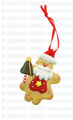 Holiday decoration santa cookie with sugar glazing