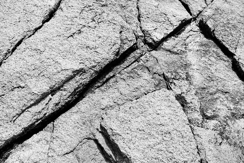 ROCK PATTERNS MOUNT DESERT ISLAND ACADIA NATIONAL PARK MAINE BLACK AND WHITE