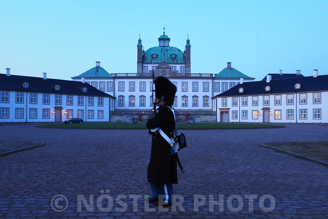 A Royal Life Guard at Fredensborg Palace