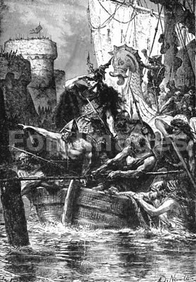 Viking chief Rollo besieges Paris