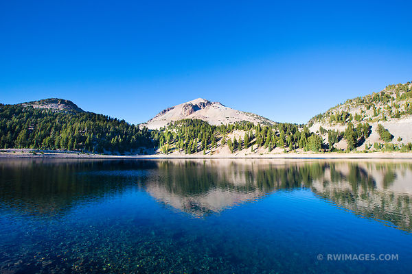 LAKE HELEN LASSEN PEAK LASSEN VOLCANIC NATIONAL PARK CALIFORNIA