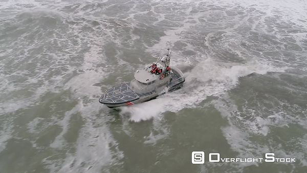 USCG Coast Guard motor lifeboats training in surf at La Push Washington  Editorial Use Only