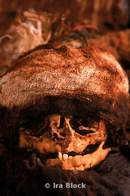skull of baby mummy