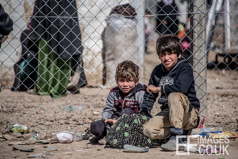 Two Children Who Escaped From ISIS Held West Mosul Earlier In The Day. They've Made It To Hamam al Alil IDP Camp, But The Camp Is Full And There Is Nowhere For Them To Go.