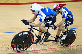 Para-cycling time trial 1km tandem. 2015 Canadian Track Championships, October 7