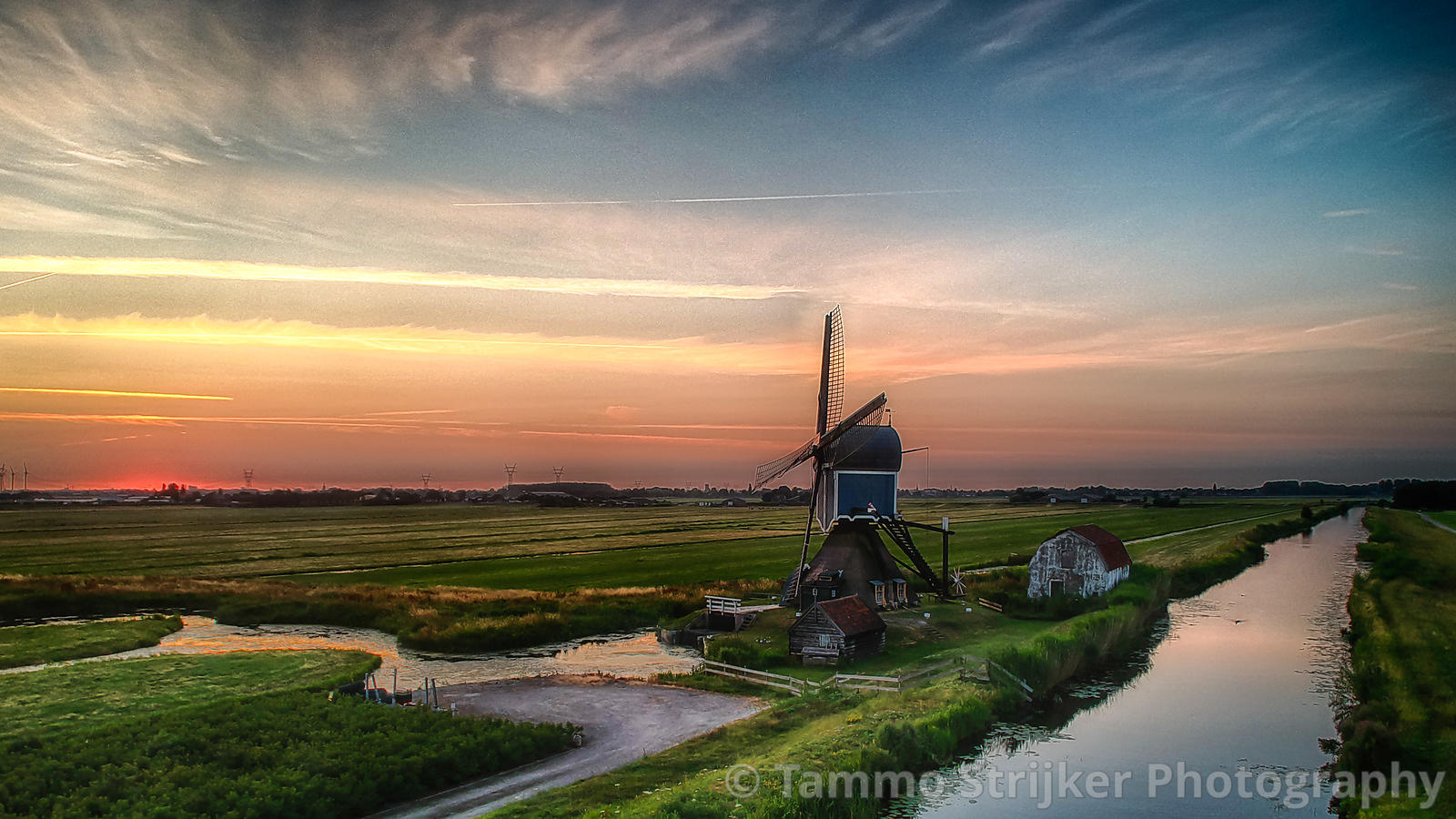 Blue windmill, blue hour