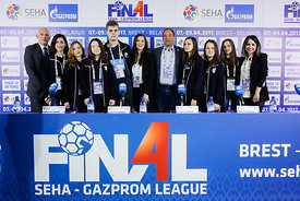 Media Team during the Final Tournament - Final Four - SEHA - Gazprom league, Closing Press Conference, Belarus, 09.04.2017, Mandatory Credit ©SEHA/ Stanko Gruden..