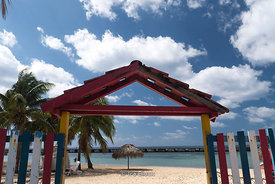 Playa Giron (Grion Beach) on the east bank of the Bahia de Cochinos (Bay of Pigs) in Cuba.