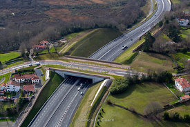 A63-Vinci Autoroute-Pays Basque-Photo Aérienne29-01-13