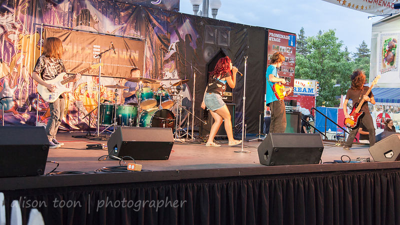 SACRAMENTO, CA, 22 JULY 2013: A Mile Till Dawn, performing at the California State Fair, 22nd July 2013