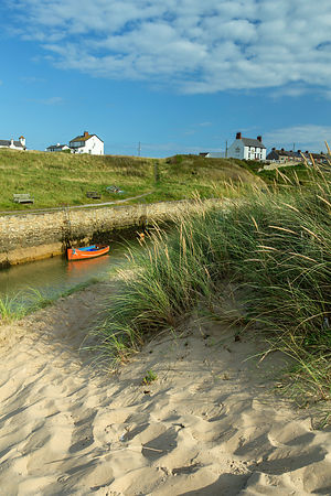 Seaton Sluice from the Dunes.