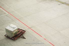 Cargo left on airport field