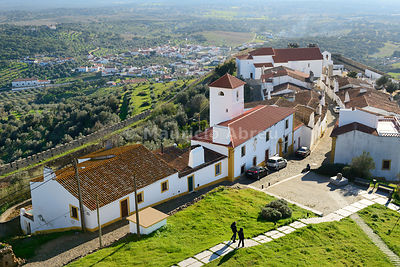 The medieval walled village of Evoramonte. Alentejo, Portugal