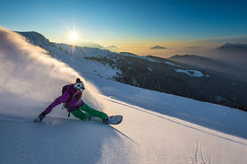 Slashing at sunset with Liz Daley