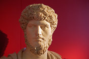 "Marble bust of Marcus Aurelius. ""Portraits. The Many Faces of Power"" Exhibition"